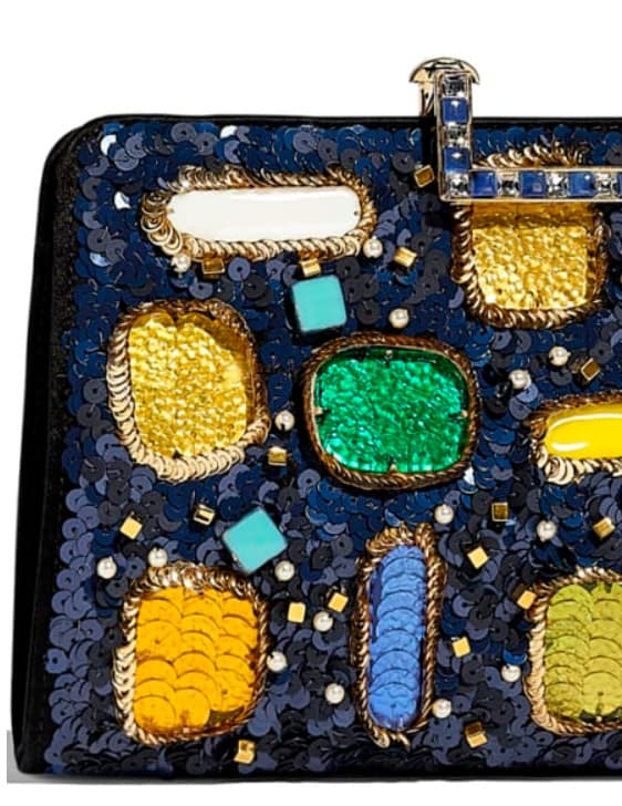 Sequin Bag. Clutch with decorations