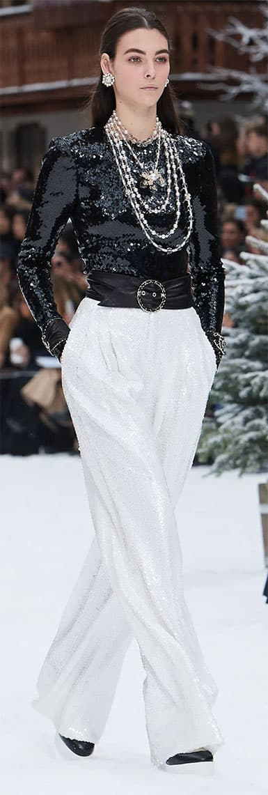 How to Wear Sequins Chanel Sequin Outfit