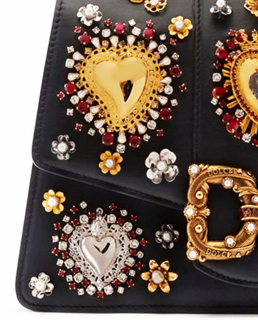 Close up D&G bag with crystals