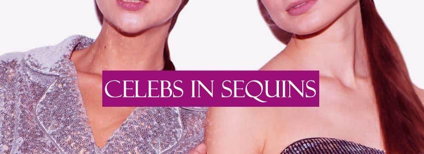 Celebrities Wearing Sequin Dresses