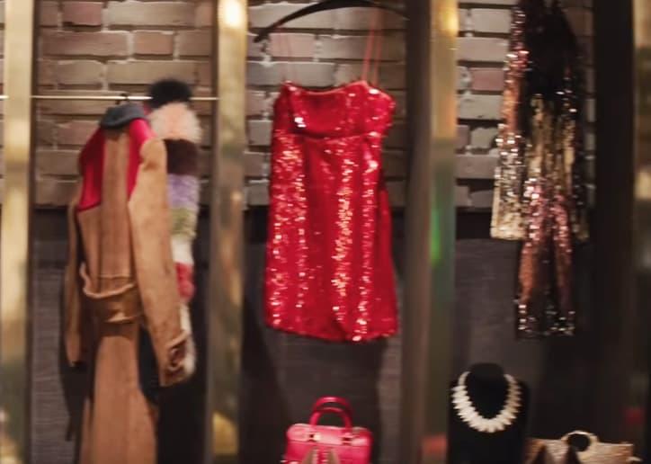 Little Red Sequin Dress