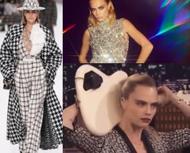 Cara Delevingne Wearing Sequins