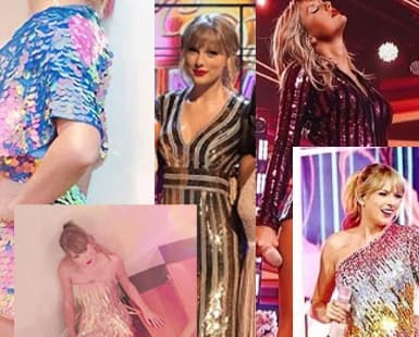 Taylor Swift in Sequin Dresses