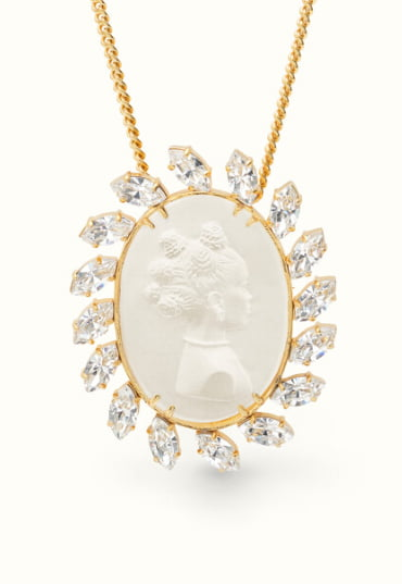 Fenty jewelry brooch with pendant