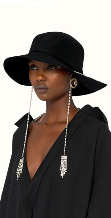 Fenty hat with crystals