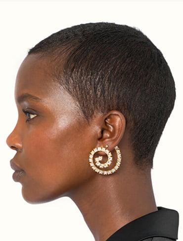 Fenty jewelry spiral earrings