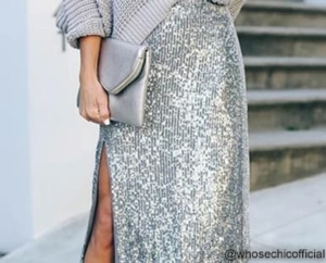 Sequin Skirts for Work