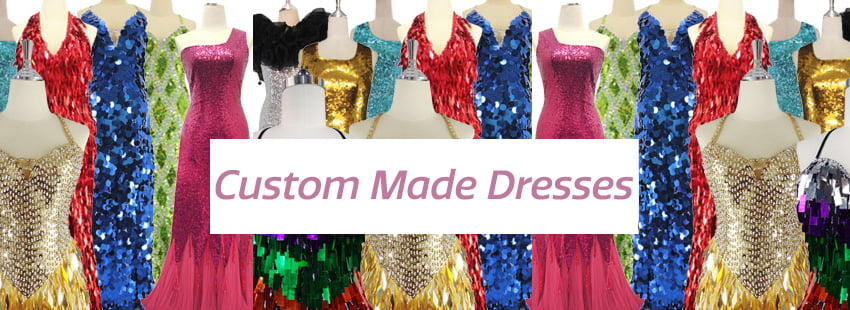 Custom Sequin Dresses