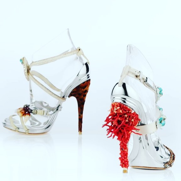 High Heels Open Toe Strap Sandals.