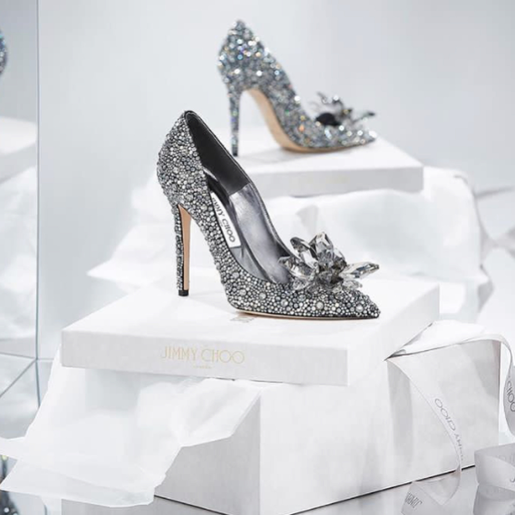 Women's Bling Shoes with Rhinestones for Evening.