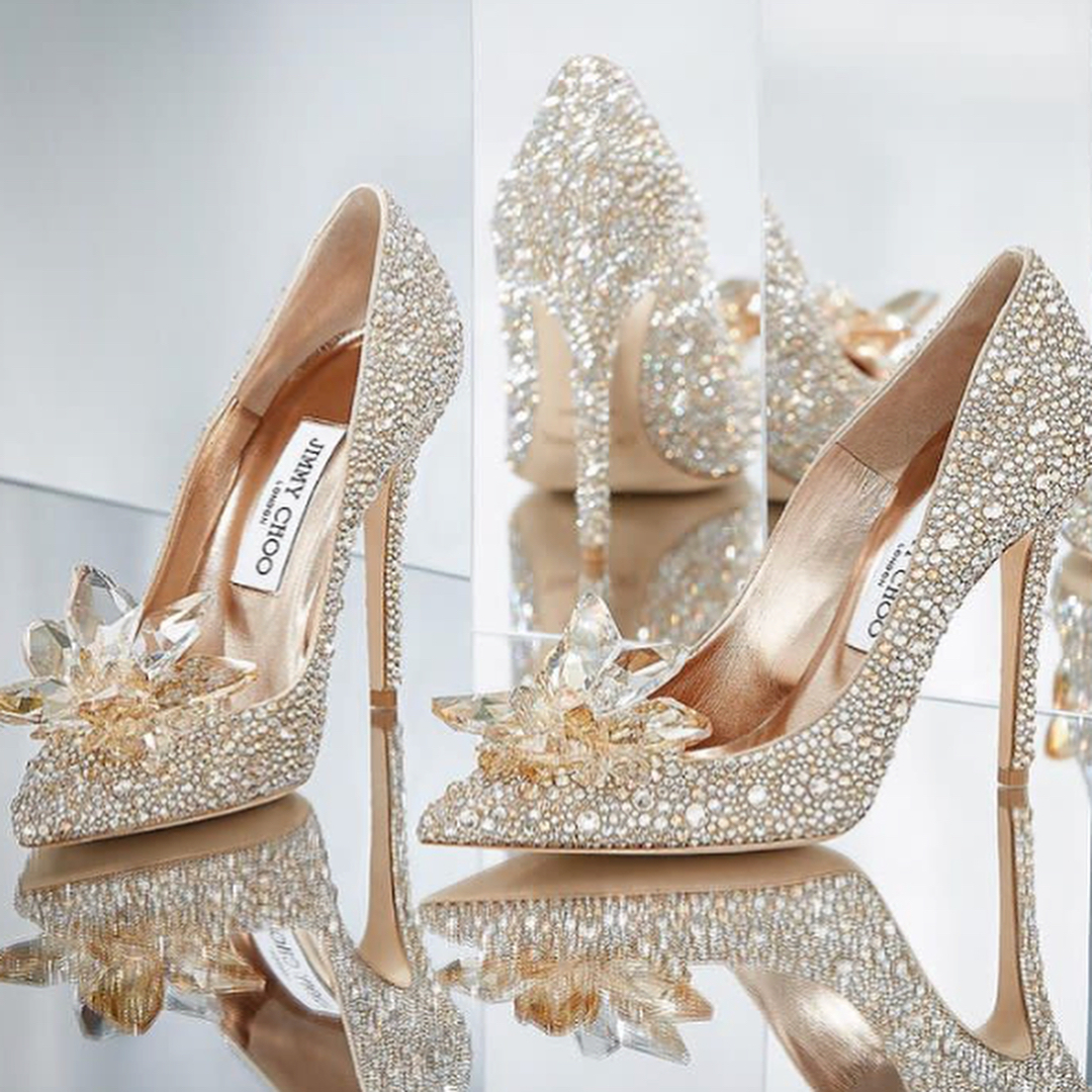 Dark Silver High Heels Pointed Toe Wedding Shoes.