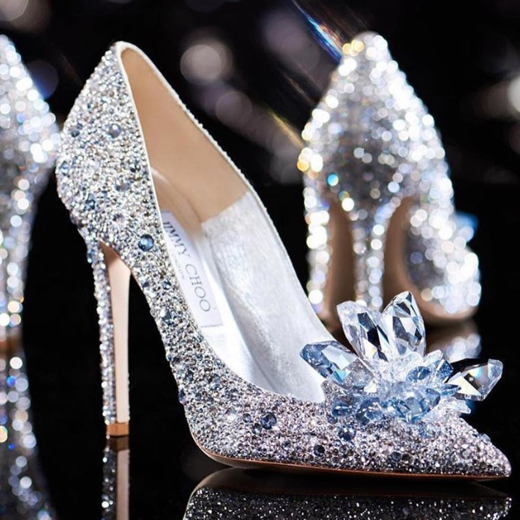 Bling Silver Shoes Perfect for Brides.
