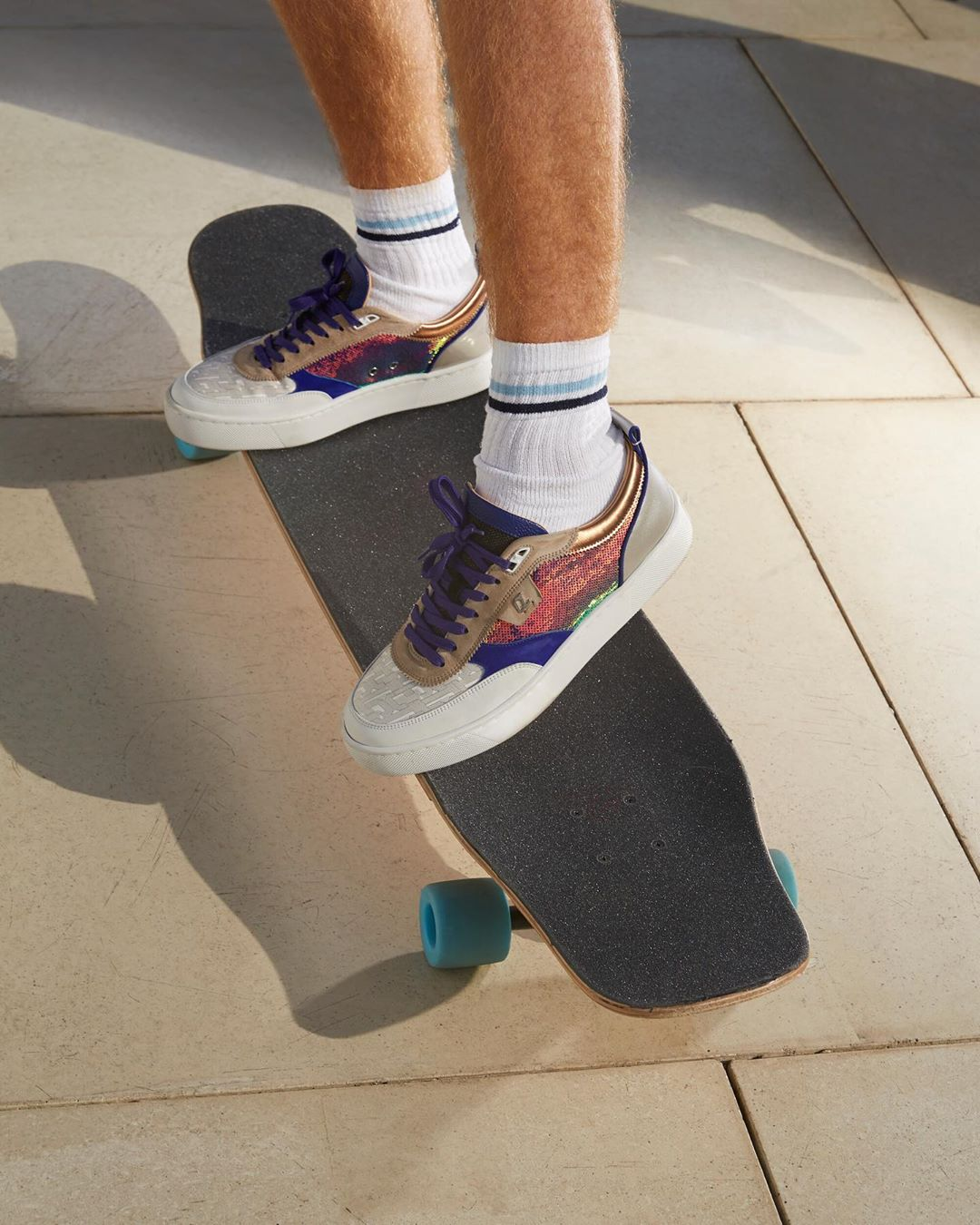 Okay--one for the Guys too! Men's Multi-Color Sequin Sneakers.