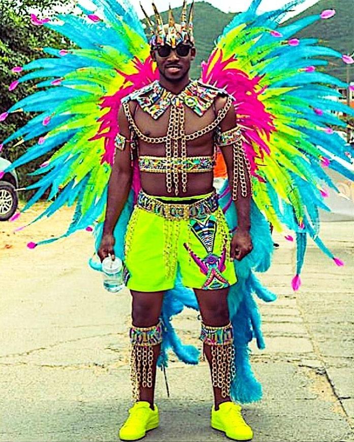 Men's Colourful Rhinestones Accessories Body Wear.