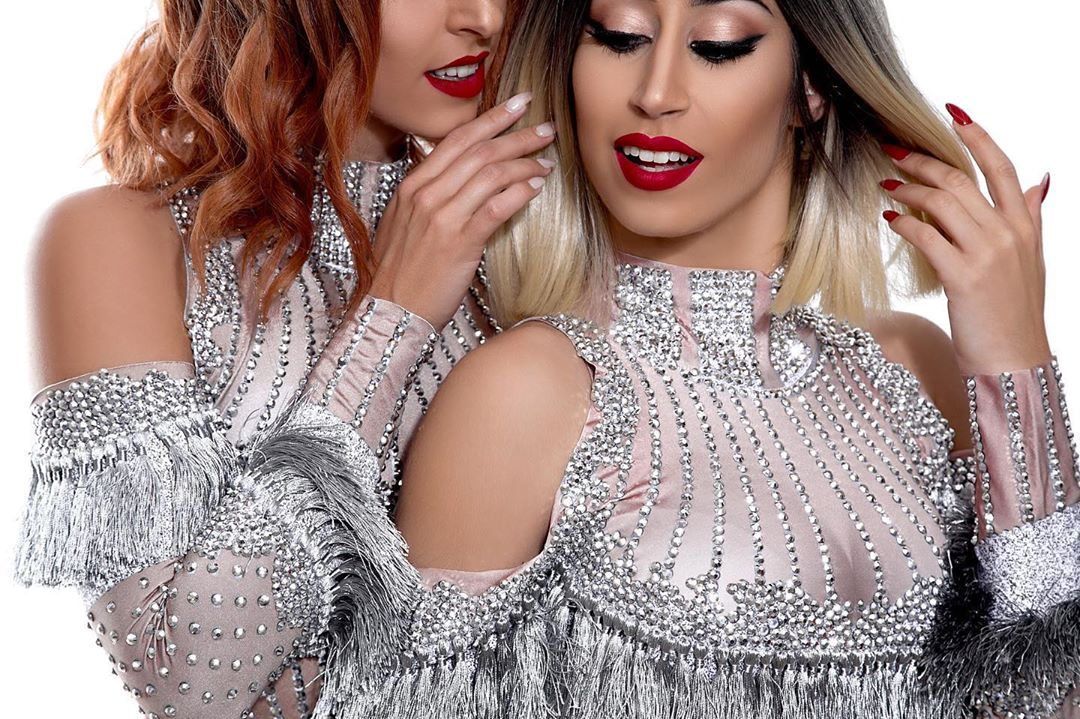 Silver Cold Shoulder with Silver Rhinestones Dress