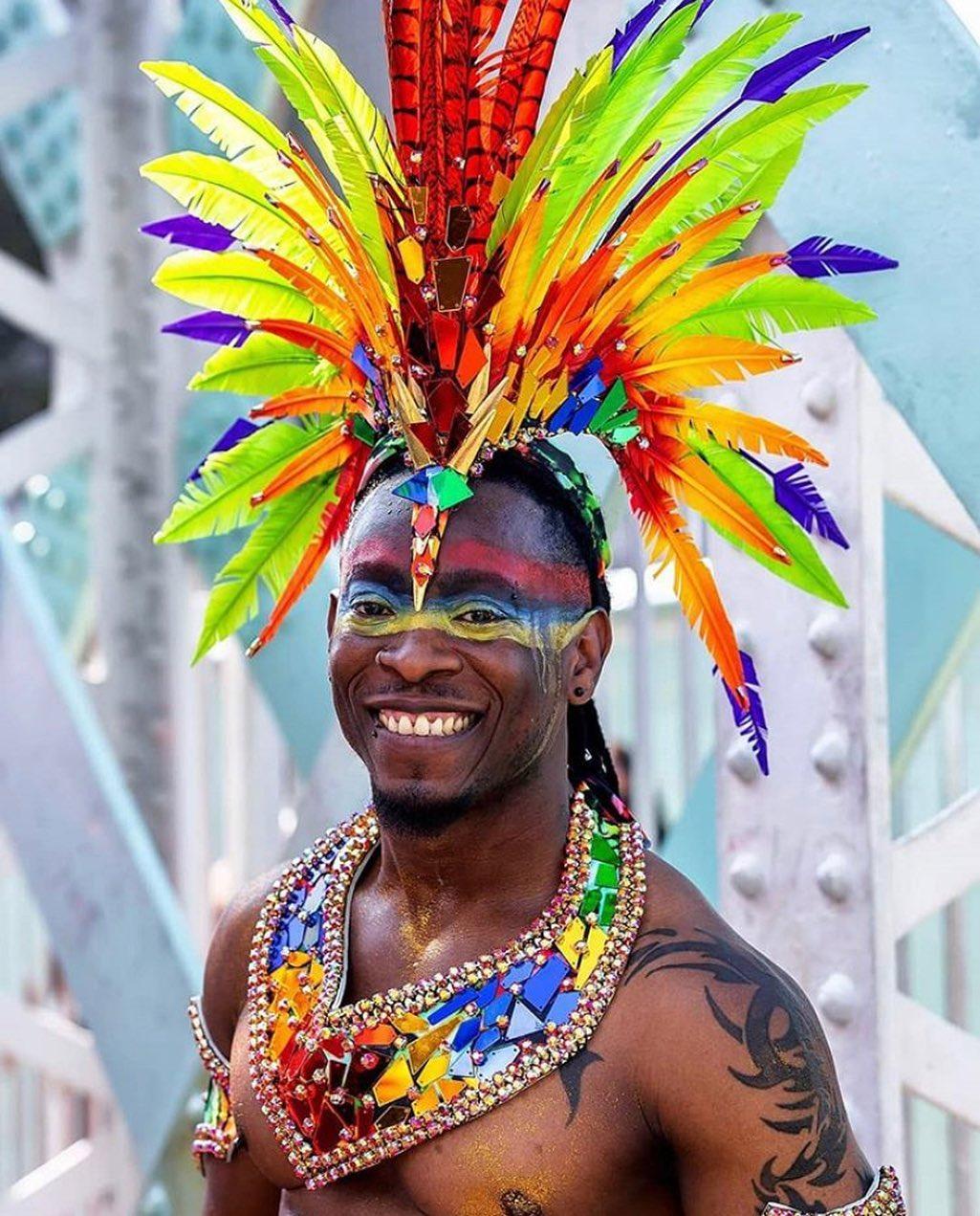 Rainbow Mirror Sequin Color Men's Carnival Costume Choker and Head Wear