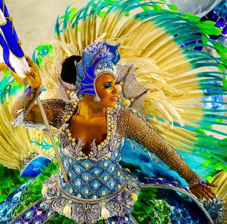 Multi-Colour Sequin with Rhinestones Long Samba Gown with Full Sleeves