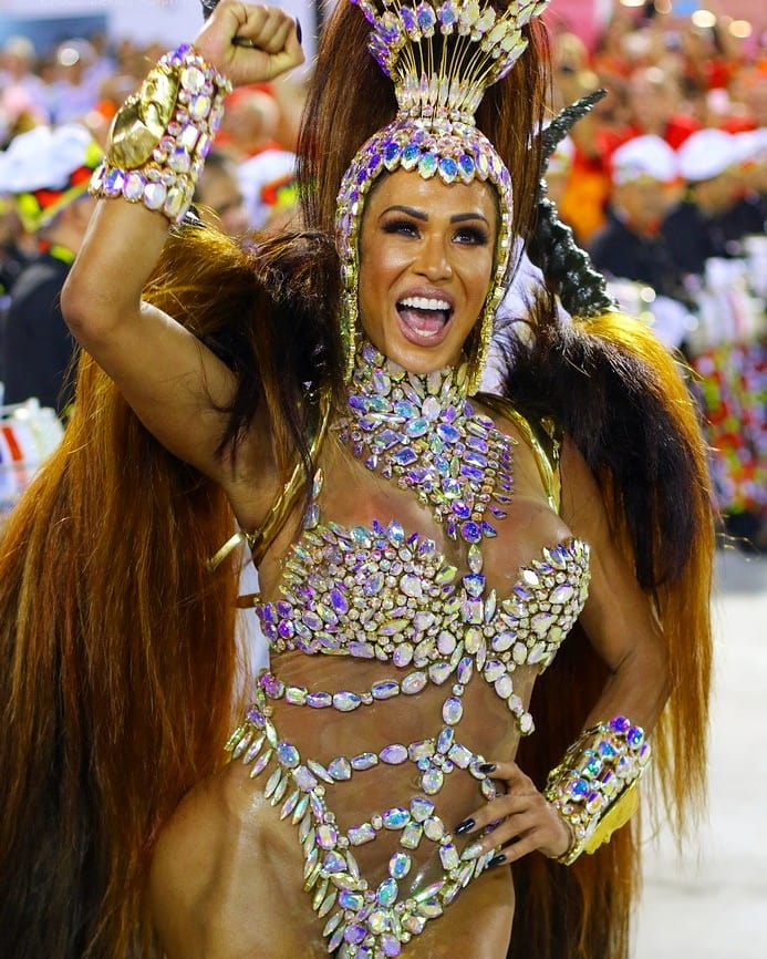 Iridescent Chunky Crystal Samba Costume for Women