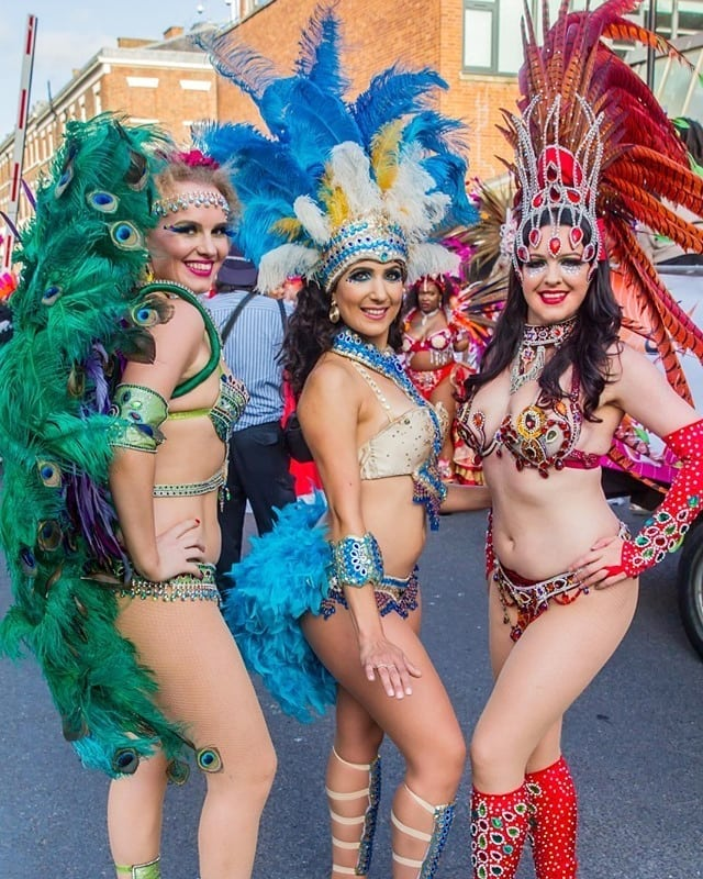 Colourful Carnival Costumes with Rhinestones and Sequins.