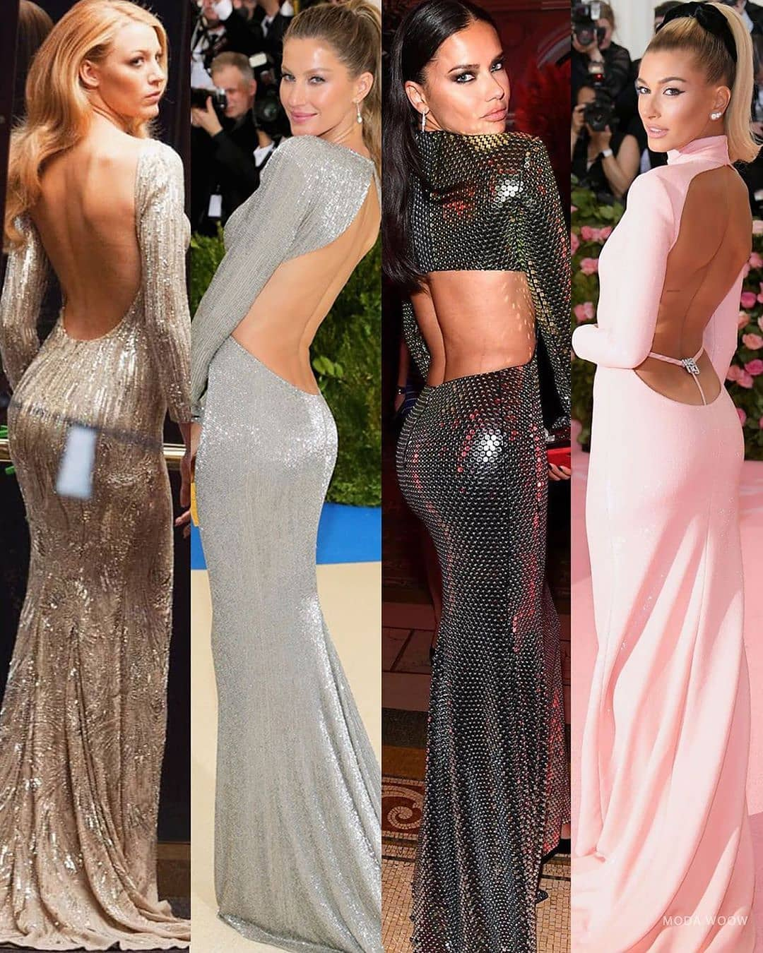The Best Bling Online. Long Glittering Backless Full Sleeves Evening Gowns.