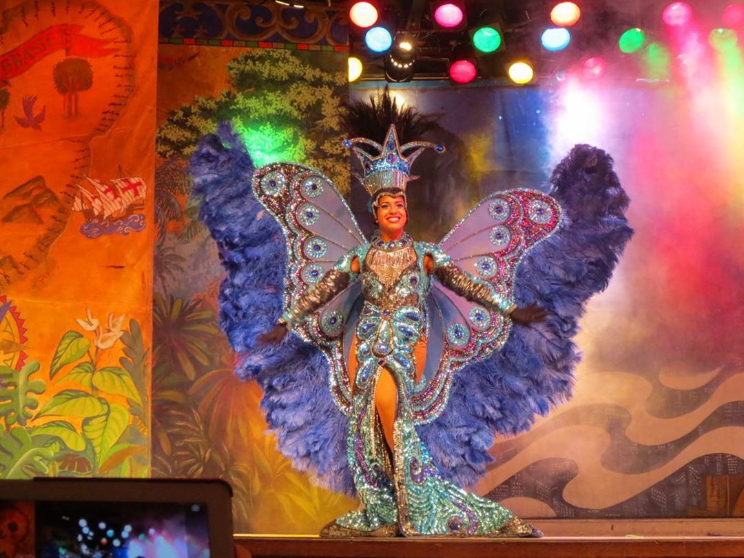 Butterfly Obsessed Long Gown with Rhinestones and Sequins with Headdress and Wings