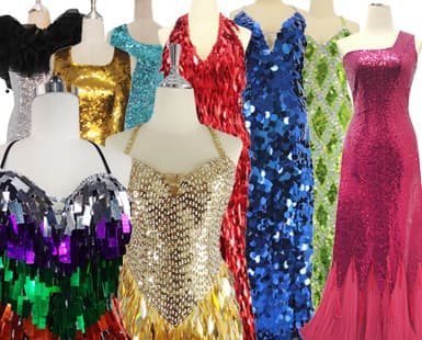 Custom Made Sequin Dresses