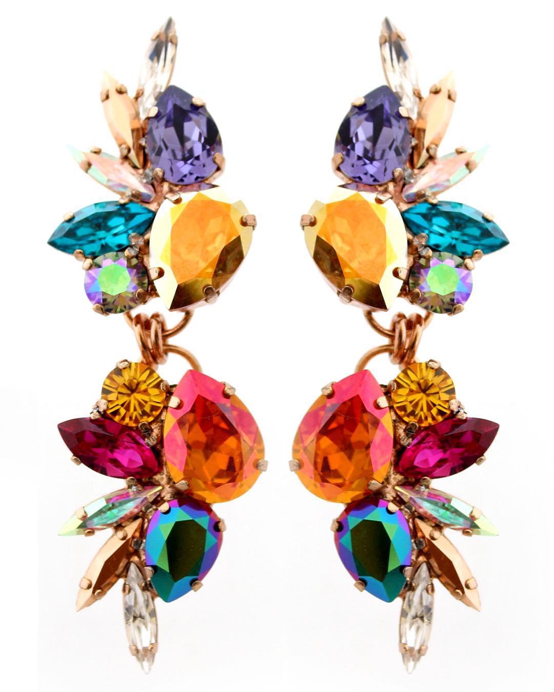 Best Jewelry Online:  Gem Stone Hanging Earring Jewelry Online
