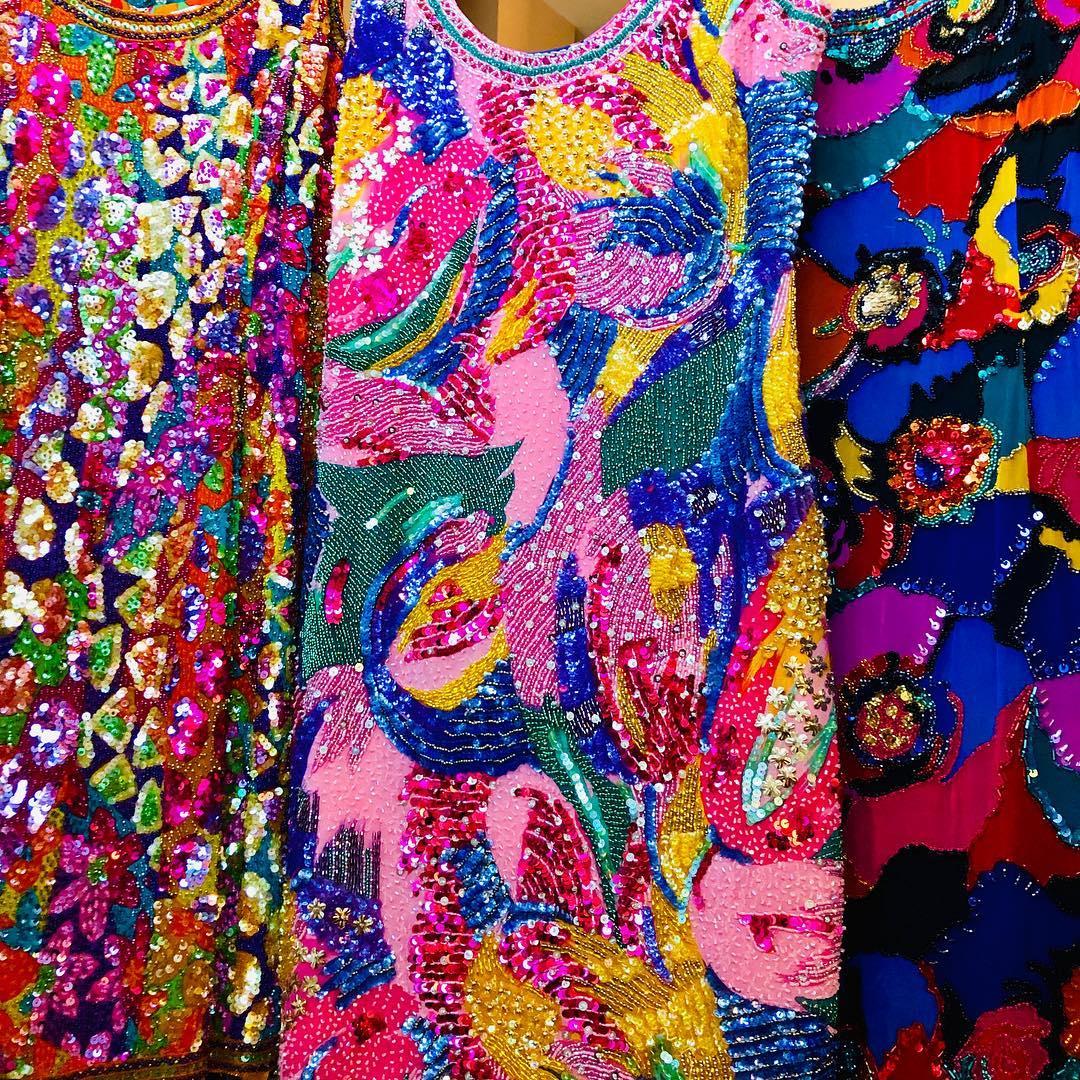 Multi Colour Sequin Fabric Short Dresses.