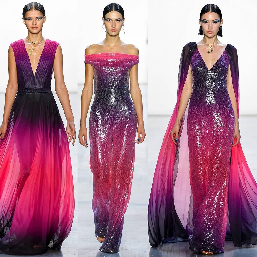 Dark Purple Ombre Sequin Dresses