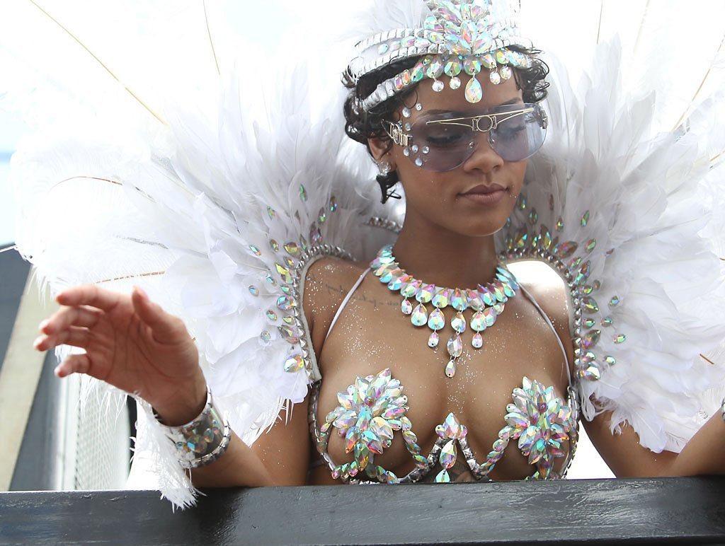 Pearl White Bikini Bra with Neck Choker and Head Piece Carnival Costume.