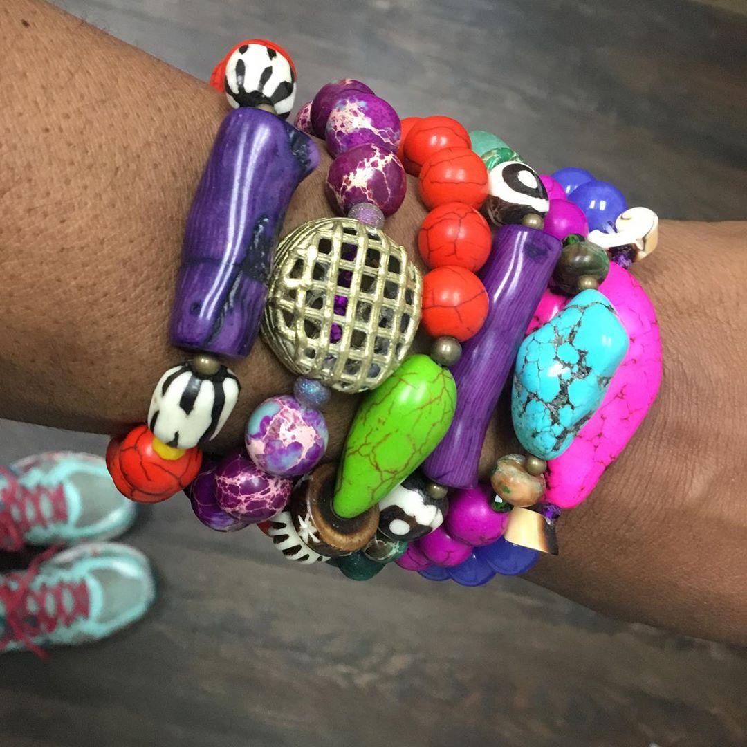 Budget Jewelry Online Colourful Stone Bracelets