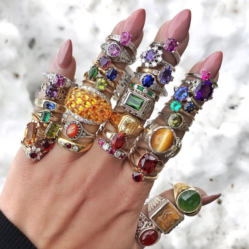 Colourful Diamonds and Gems Jewelry Online