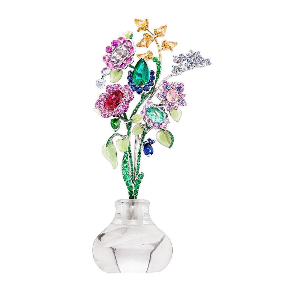 Best Jewelry Online: Multi-Colour Rhinestones with Gems Garden Inspired Brooch