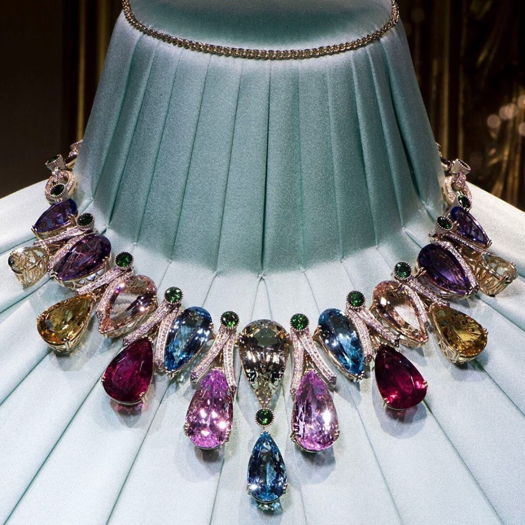 Colourful Precious Stones Necklace Oversize Jewelry Online