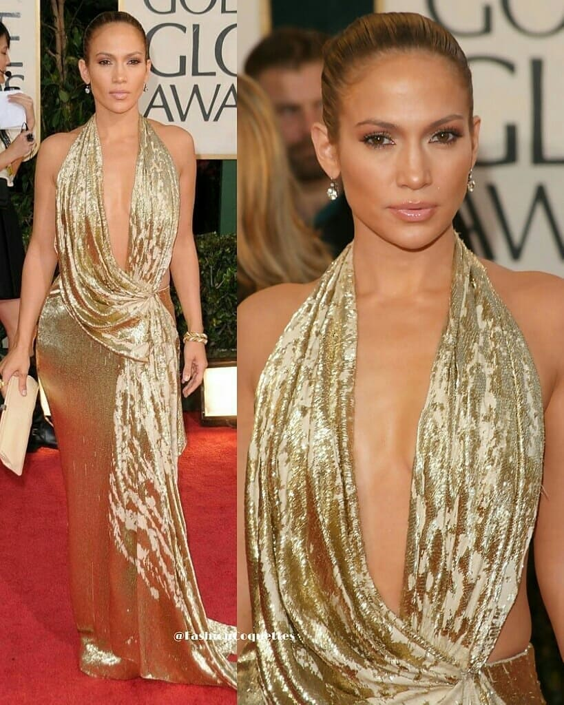 Sequin Long Gown with Deep V-Neck Line And Sleeveless in Gold