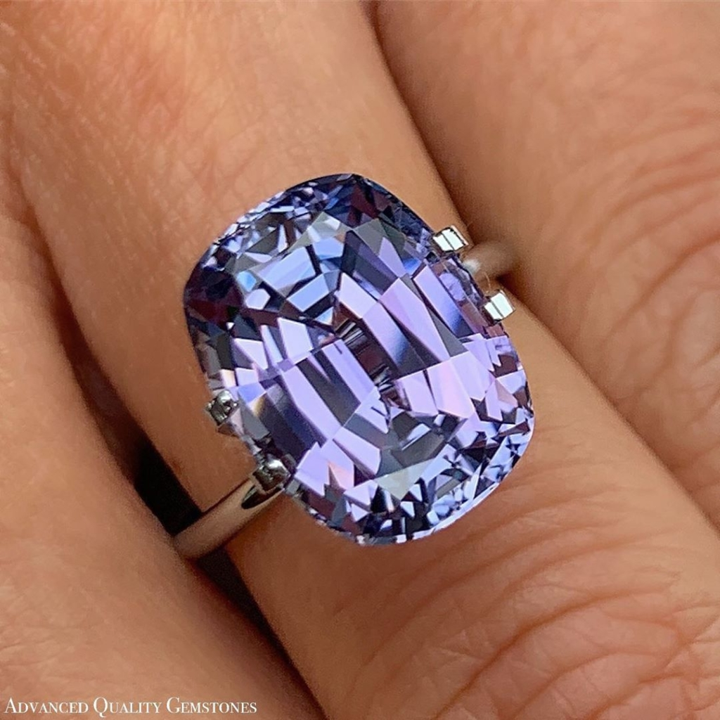 Tanzanite Gem with White Gold Ring