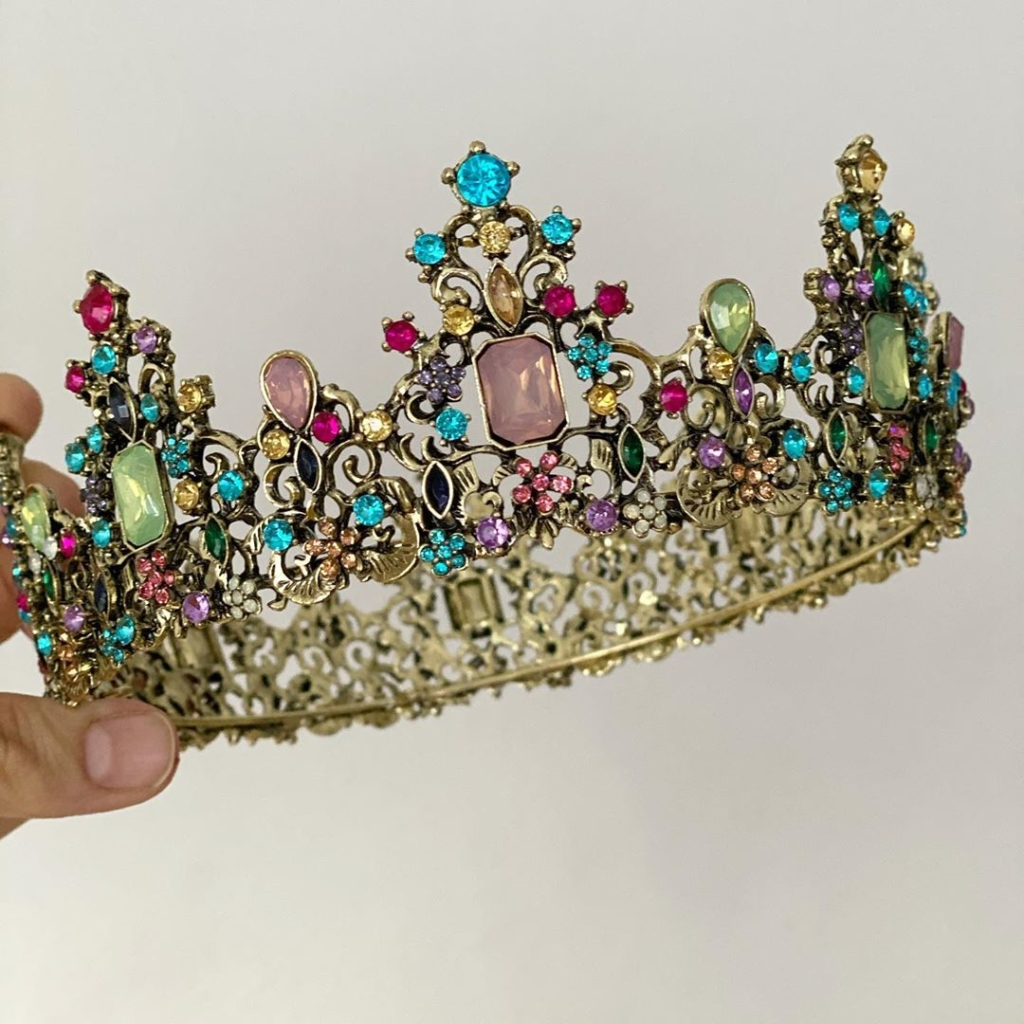 Colourful Rhinestones Tiara