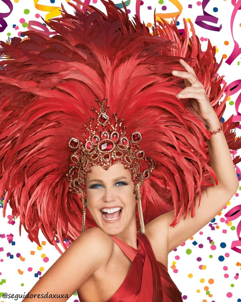 Red Stage Head Dress with Ruby and Silver Rhinestones Crown with Feathers.