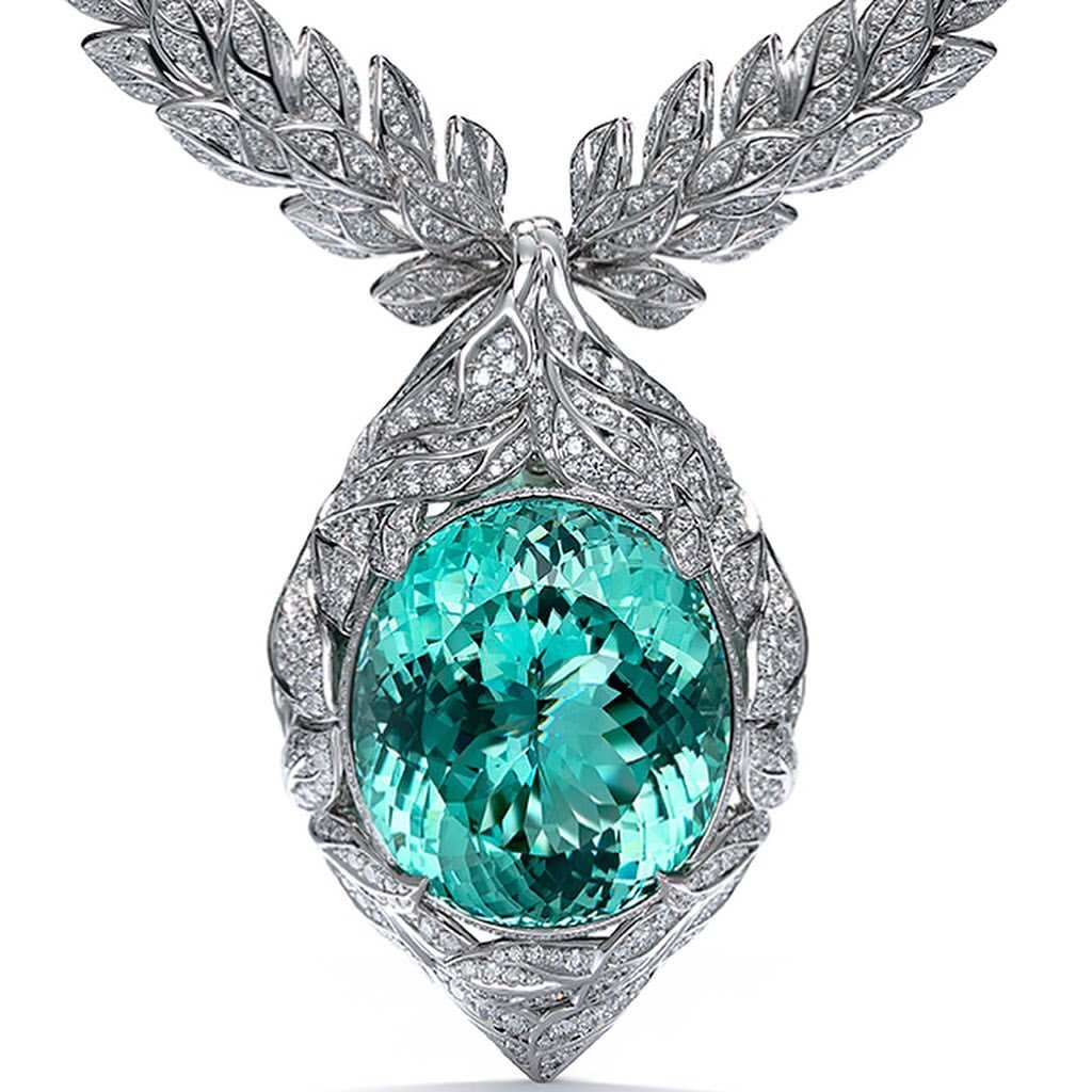 Best Jewelry Online: Topaz and Diamond Jewelry Online in White Gold Necklace and Pendant