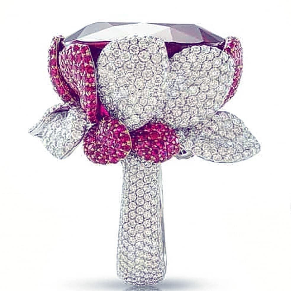Best Jewelry Online: Glittering Flower Inspired Ring Online Jewelry
