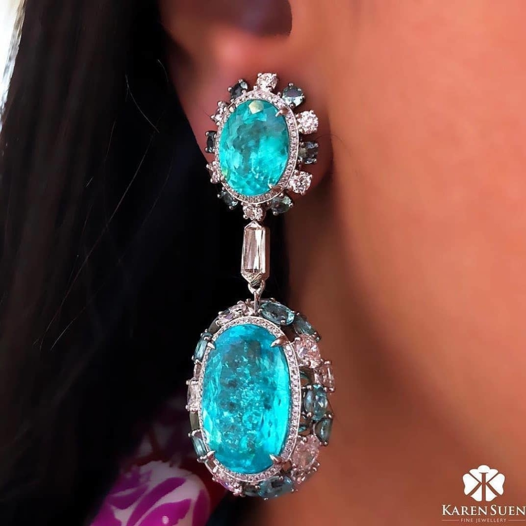 Oversized Jewelry Online Blue Topaz Drop Earrings