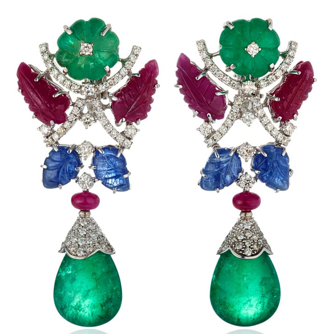 Best Jewelry Online: Drop Earrings with Diamonds, Rubies, Sapphires and Emeralds