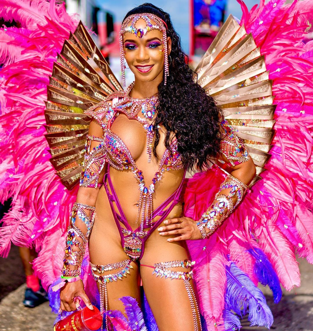 Fuchsia and Hot Pink Carnival Costume for Women