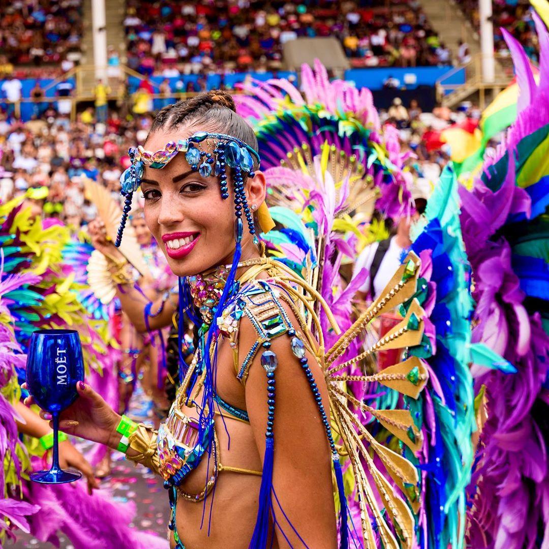 Multi-Colour Samba Bikini Wear with Rhinestone Accessories