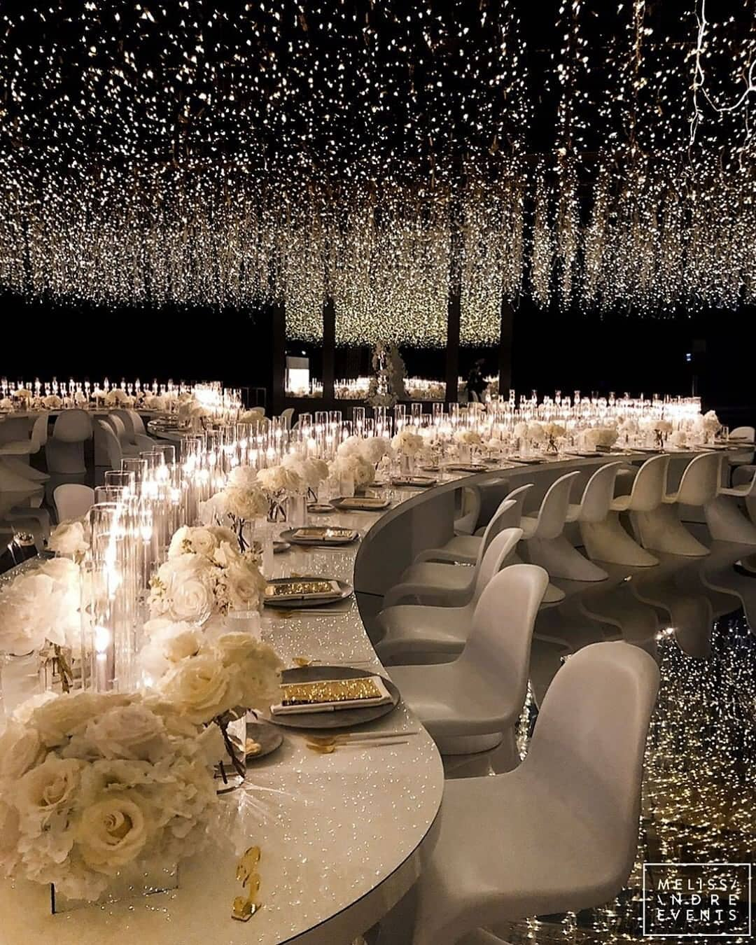 A Sky Full of Stars! Wedding Reception Glam and Glitz. The best bling online.