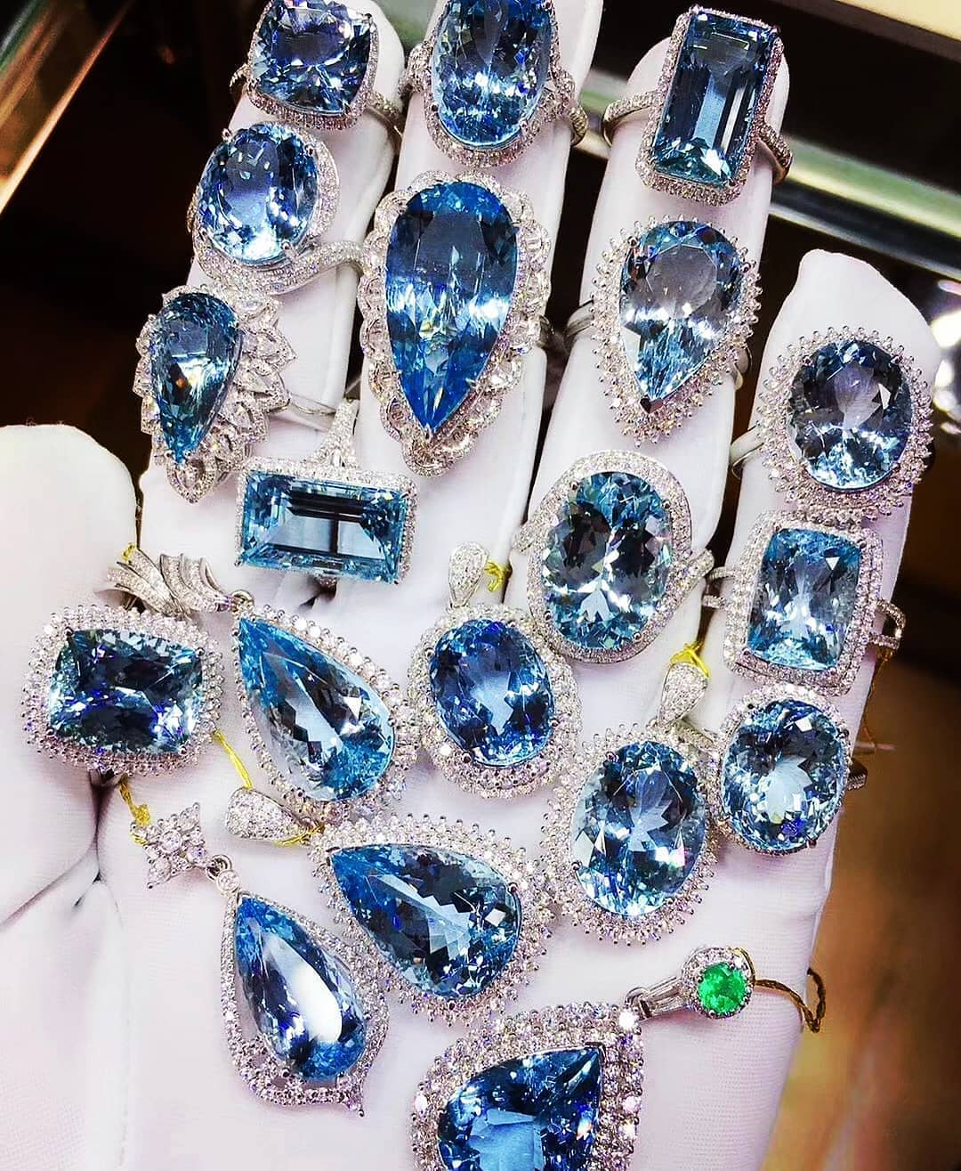 The Best Way To Beat The Monday Blues. Tourmaline and Diamond Rings and Pendants.