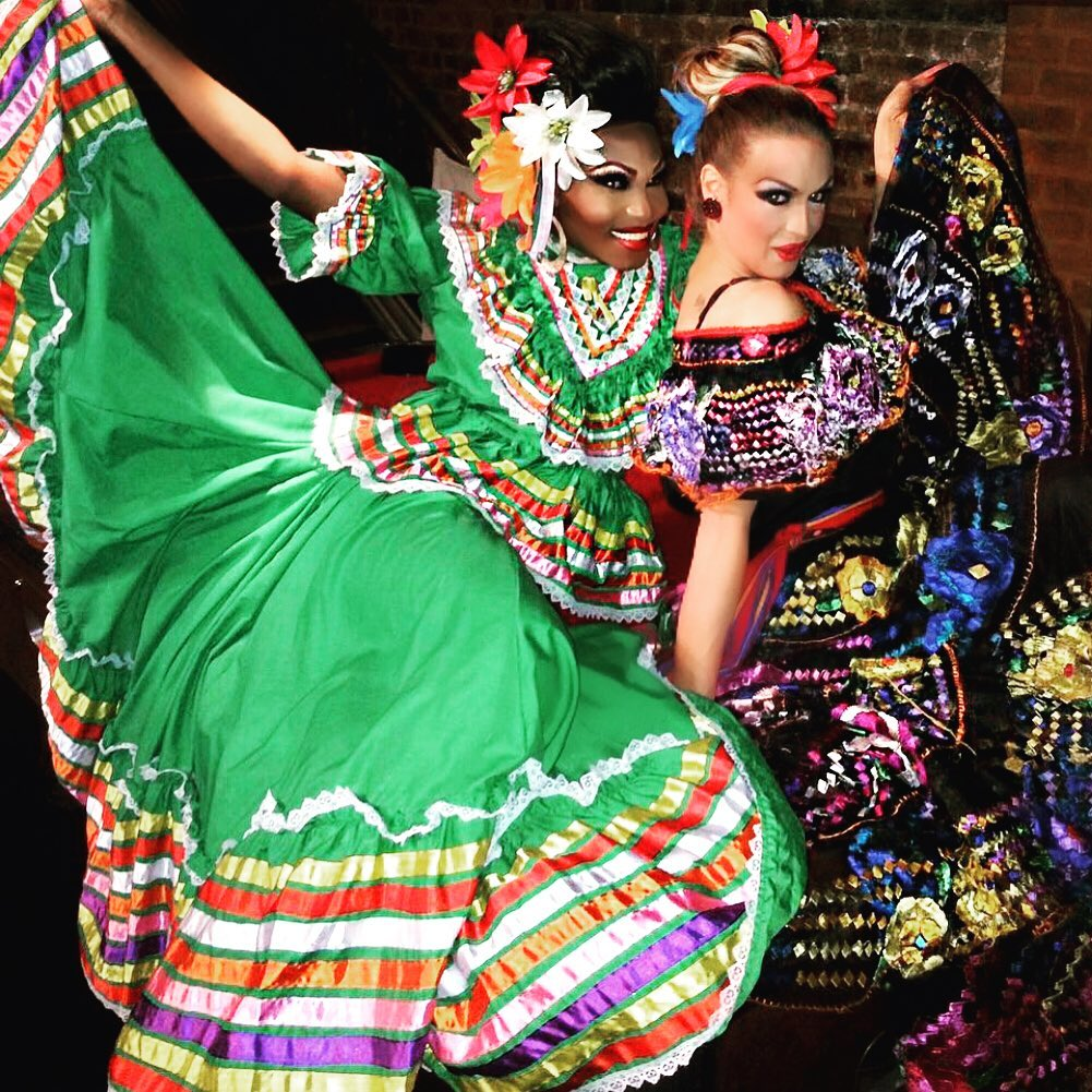 Long Colourful Sequin and Beaded Gowns for Carnival.