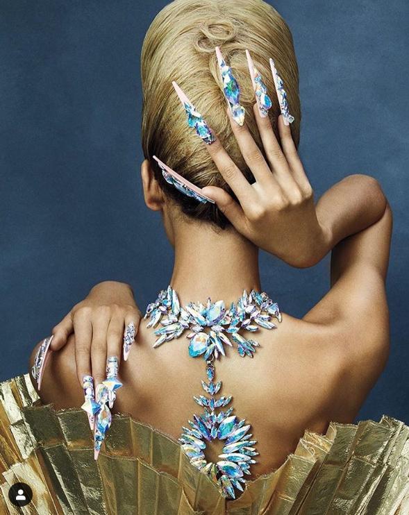 Massive crystal nails.