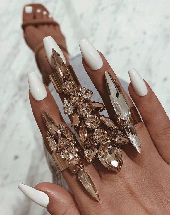 Huge crystal rings