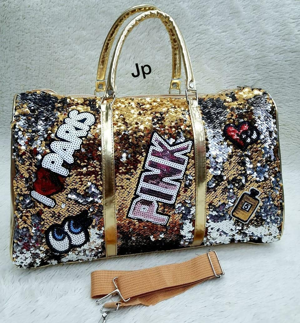 BLING BAGS to Update Your Glamour Accessories Multi-Colour Sequin Duffle Bag